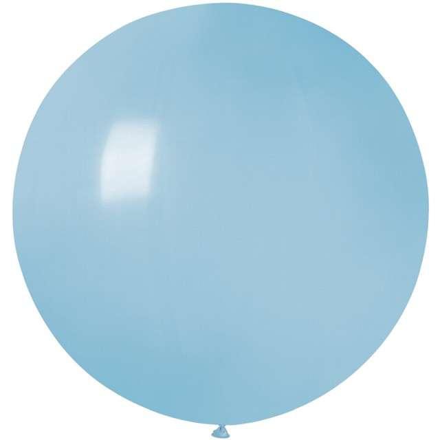 Balon Olbrzym niebieski jasny pastel Gemar 80cm