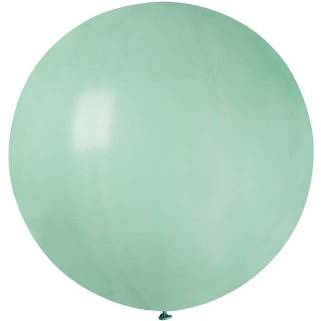 Balon Olbrzym turkusowo zielony pastel Gemar 80cm