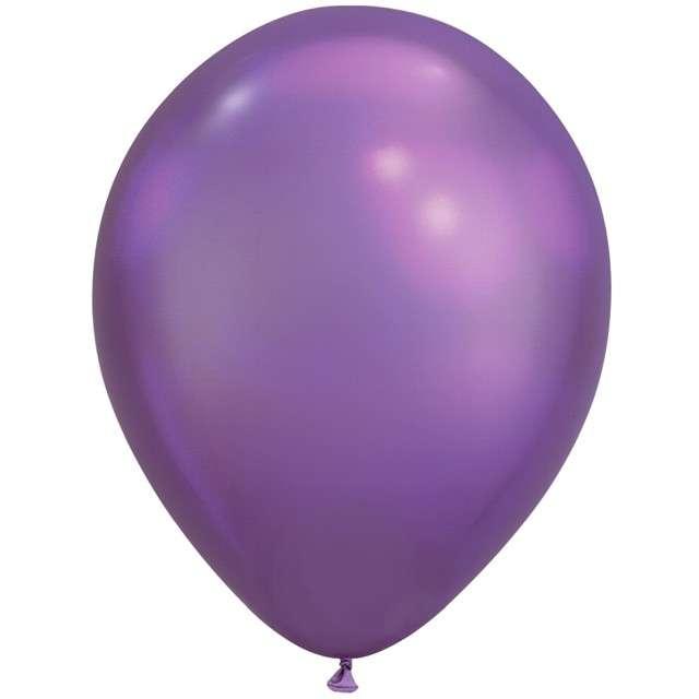 """Balony """"Chromowane"""", fioletowy, QUALATEX, 11"""", 25 szt"""