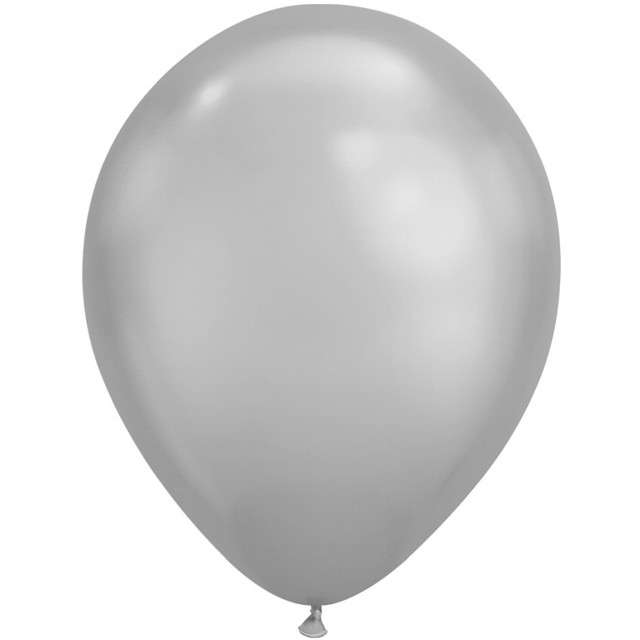 "Balony ""Chromowane"", srebrny, Qualatex, 11"", 25 szt"