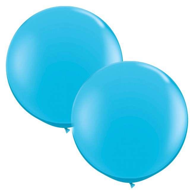 """Balony """"Okrągłe"""", błękitne, Qualatex, 36"""", 2 szt"""