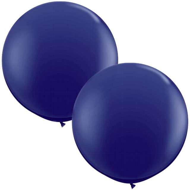 """Balony """"Okrągłe"""", fioletowe ciemne, Qualatex, 36"""", 2 szt"""