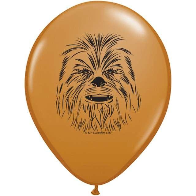 """Balony """"Star Wars - Chewbacca"""", brązowy jasny pastel, QUALATEX, 5"""", 100 szt"""