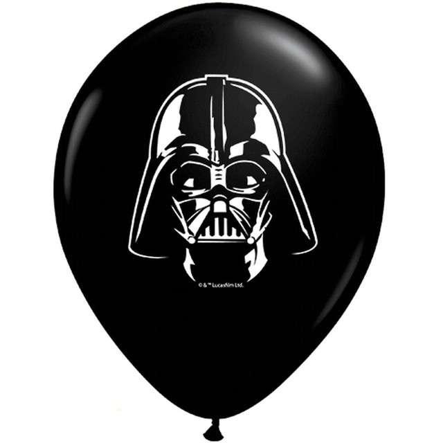 "Balony ""Star Wars - Darth Vader"", czarny pastel, QUALATEX, 5"", 100 szt"