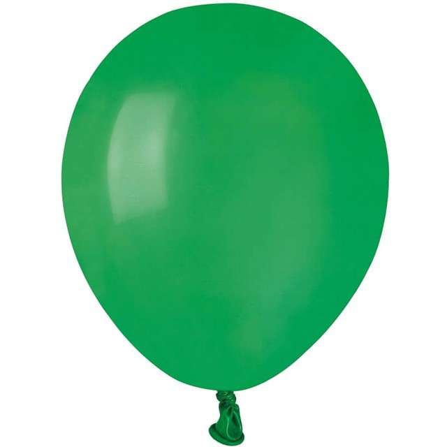 "Balony ""Pastel"", zielone ciemne, GEMAR, 5"", 100 szt"