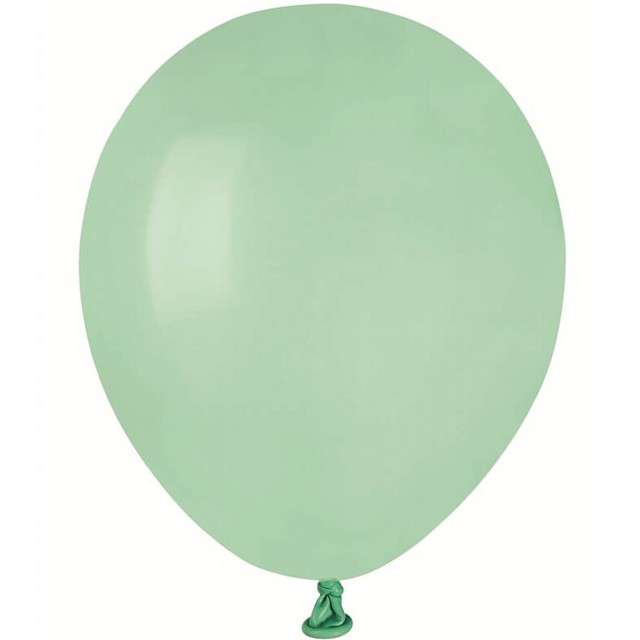 """Balony """"Pastel"""", zielone jasne, GEMAR, 5"""", 100 szt"""