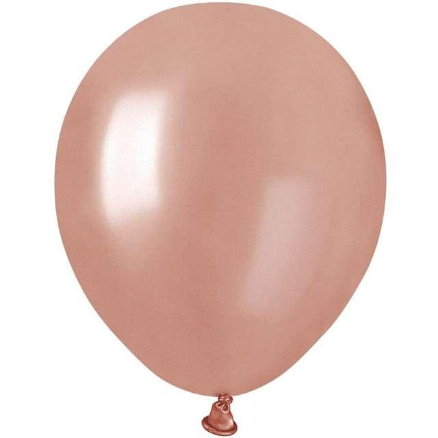 """Balony """"Classic"""", różowy-złoty metalik, GEMAR, 5"""", 100 szt"""