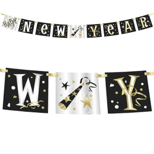 "Baner ""Happy New Year"", Unique, 150 cm"