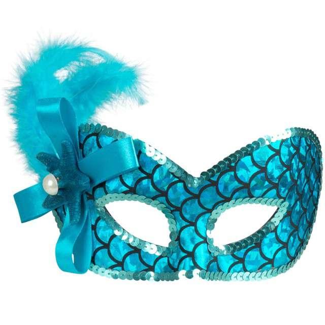 """Maska """"Syrena Wenecka - Mermaid"""", niebieska, Godan"""