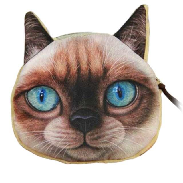 """Portfel """"Kot 3D z niebieskimi oczami"""", GadgetMaster"""