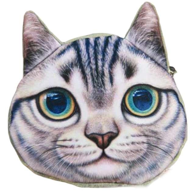 """Portfel """"Kot 3D z zielonymi oczami"""", GadgetMaster"""