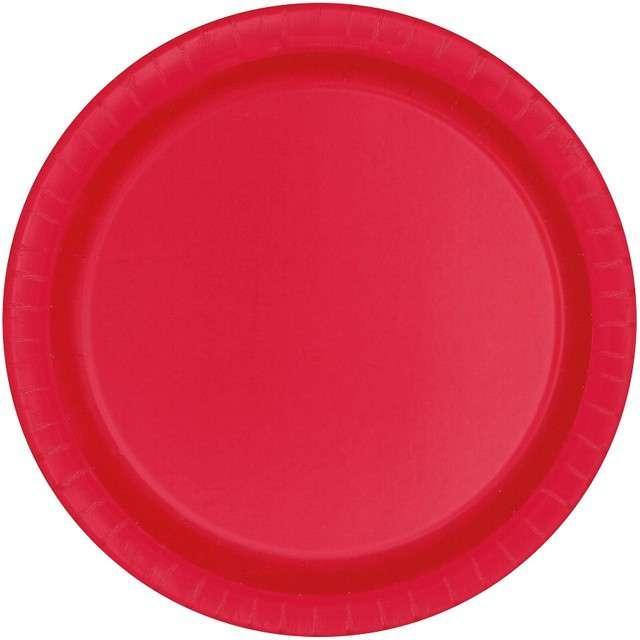 """Talerzyki papierowe """"Classic"""", czerwone, UNIQUE, 18 cm, 8 szt"""