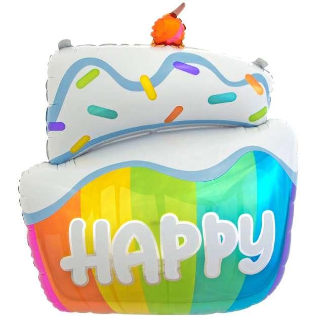 "Balon foliowy ""Tort - Happy"", GODAN, 24"" SHP"