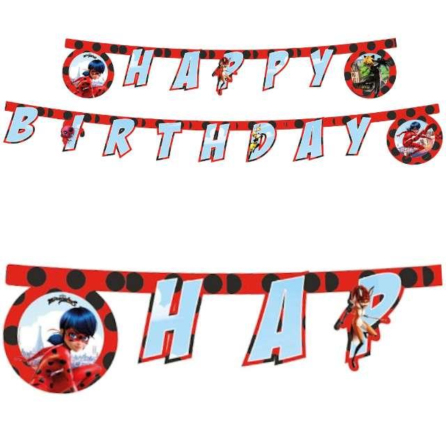 """Baner """"Miraculous - Happy Birthday"""", PROCOS, 230 cm"""