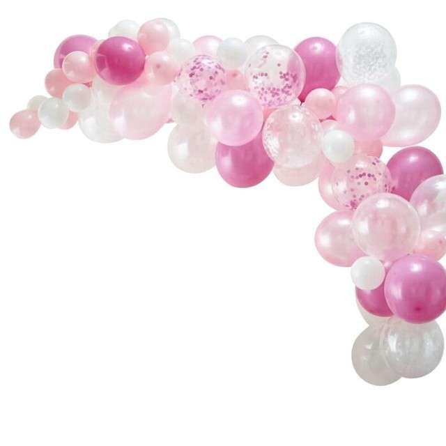 _xx_Zestaw łuk z balonów, różowy, 70 szt.