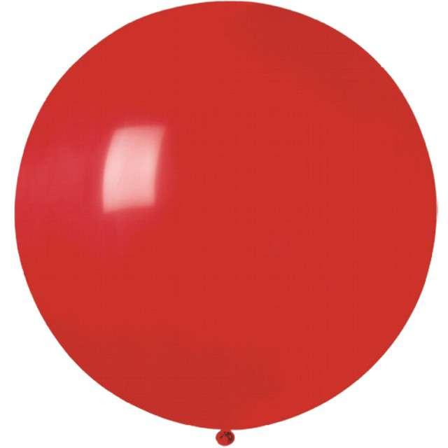 """Balon olbrzym """"Classic"""", czerwony pastel, GODAN, 100 cm"""