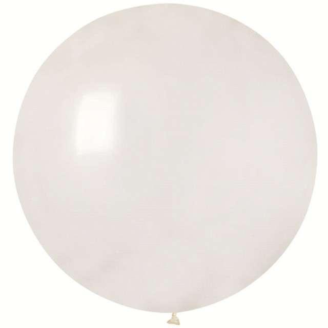 """Balon olbrzym """"Classic"""", transparentny pastel, GODAN, 100 cm"""