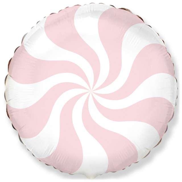 """Balon foliowy """"Pastelowy Lizak"""", różowy jasny, FLEXMETAL, 18"""" RND"""