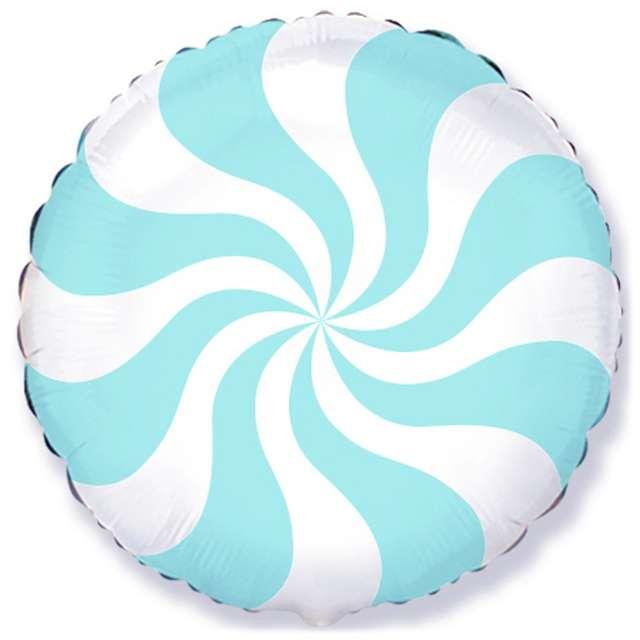 """Balon foliowy """"Pastelowy Lizak"""", niebieski jasny, FLEXMETAL, 18"""" RND"""