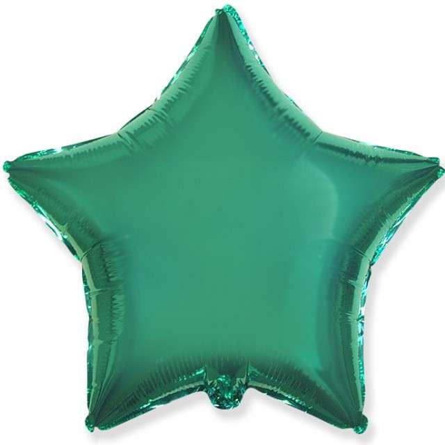 "Balon foliowy ""Gwiazda"", turkusowy, FLEXMETAL, 18"" STR"