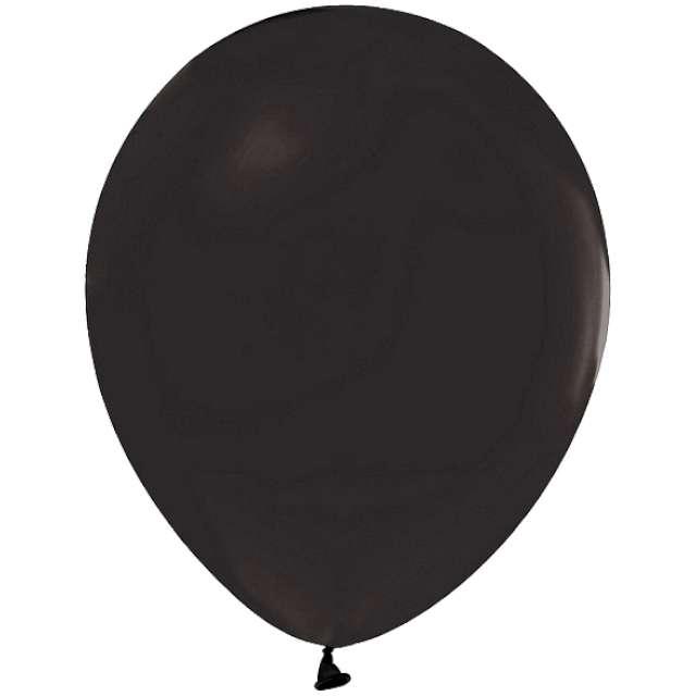 """Balony """"Helium Formula"""", czarne pastel, Godan, 10"""", 100 szt"""