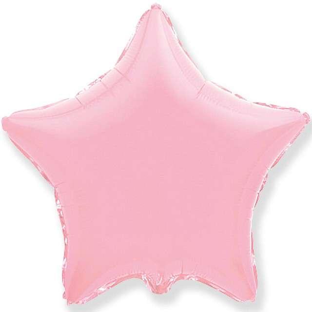 """Balon foliowy """"Gwiazda"""", różowy jasny, FLEXMETAL, 18"""" STR"""