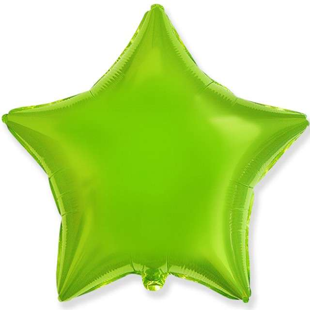 """Balon foliowy """"Gwiazda"""", zielony jasny, FLEXMETAL, 18"""" STR"""