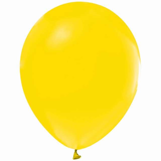 """Balony """"Helium Formula"""", żółte pastel, Godan, 10"""", 100 szt"""