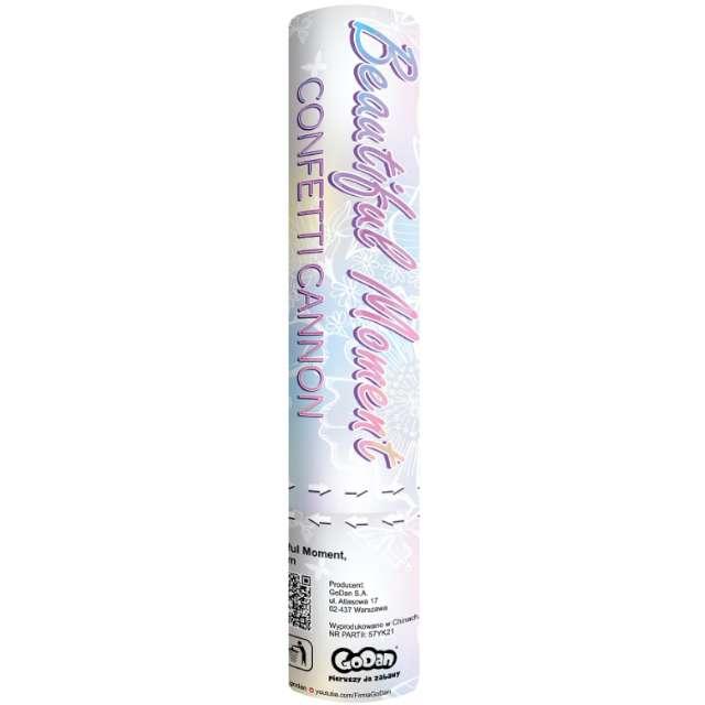 Konfetti pneumatyczne Beautiful Moment, motylki papierowe białe / 20 cm