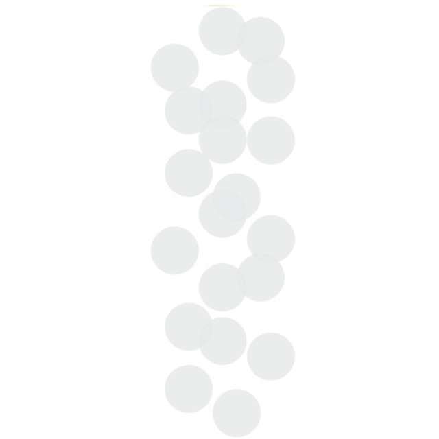 Tuba strzelająca konfetti Best Moment kółeczka białe Godan 15 cm