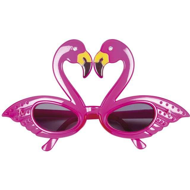 """Okulary party """"Flamingi"""", różowe, Boland"""