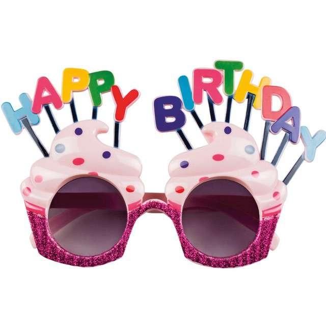 Okulary party Happy Birthday - Babeczki BOLAND