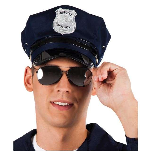 "Okulary party ""Policjant"", czarne, BOLAND"