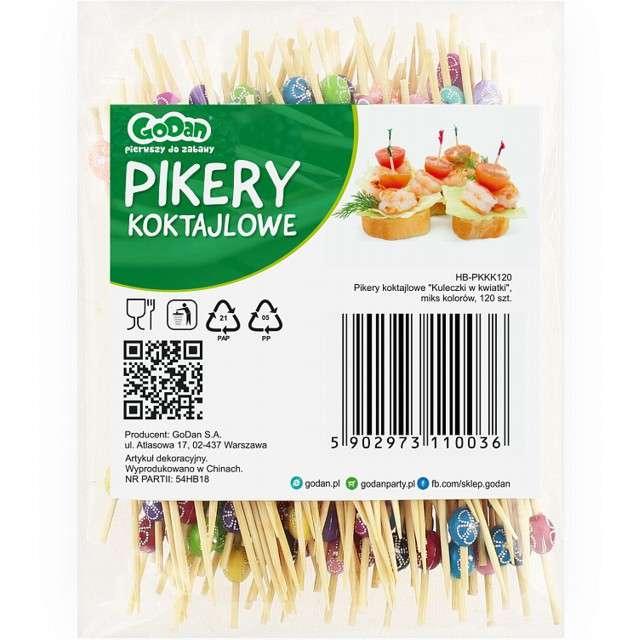 Pikery Kuleczki w kwiatki mix Godan 120 szt: