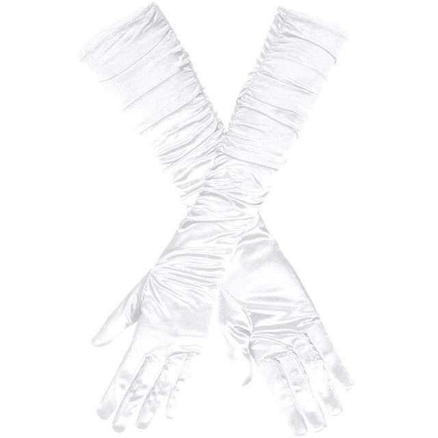 """Rękawiczki """"Hollywood Long"""", białe, Boland"""