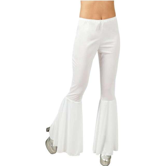 _xx_Spodnie dzwony disco, białe, rozm. M, stretch