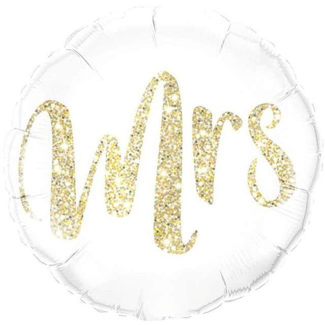 "Balon foliowy ""Mrs"", QUALATEX, 18"" RND"
