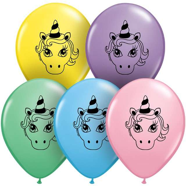 Balony Jednorożec Qualatex 5 100szt.