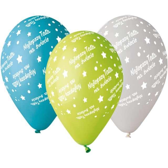 """Balony Premium """"Najlepszy Tata"""", Gemar, 12"""", 5 szt."""