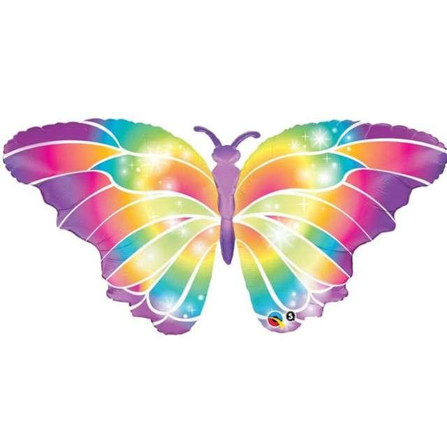 """Balon foliowy """"Motyl Świetlny"""", QUALATEX, 44"""" SHP"""