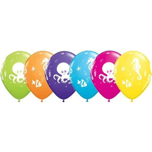 """Balony """"Morskie stwory"""", mix, Qualatex, 11"""", 25 szt"""