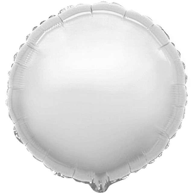 "Balon foliowy ""Okrągły JUMBO"", srebrny, FLEXMETAL, 31"" RND"