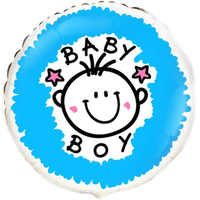 """Balon foliowy """"Baby boy"""", Flexmetal, 18"""" RND"""