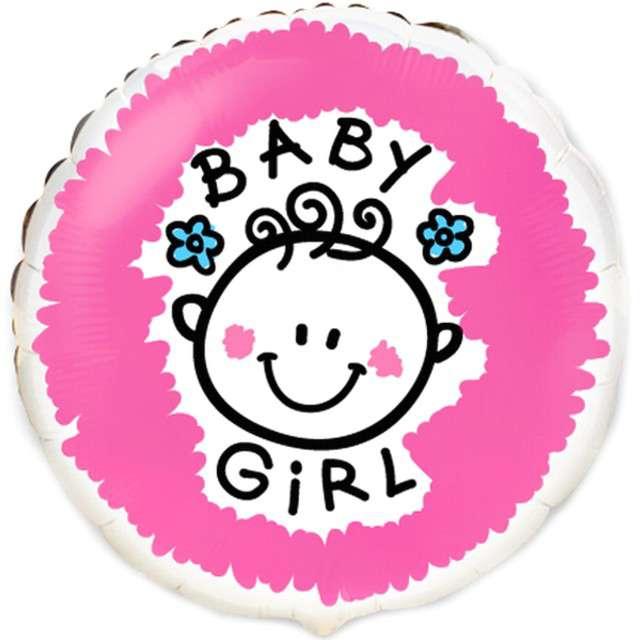 Balon foliowy Baby girl Flexmetal 18 RND