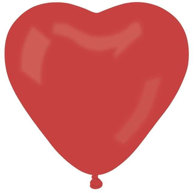 "Balon ""Serce Pastel"", czerwone, Gemar, 44 cm, 50 szt, HRT"