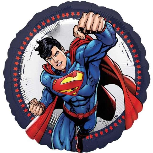 "Balon foliowy ""Superman "", Amscan, 18"", RND"