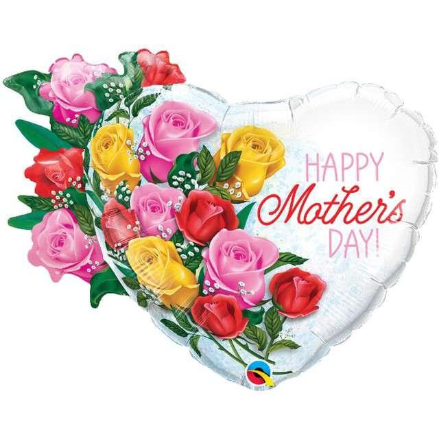 """Balon foliowy """"Dzień Matki - Bukiet Róż"""", QUALATEX, 35"""" SHP"""