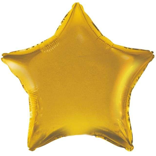"""Balon foliowy """"Gwiazda"""", złoty satynowy, Godan, 19"""" STR"""