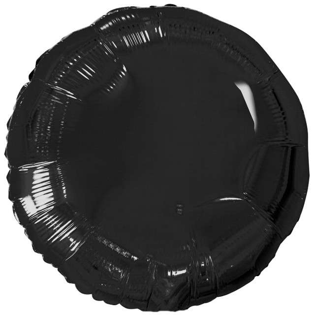 "Balon foliowy ""Classic"", czarny metalik, Godan, 18"" RND"