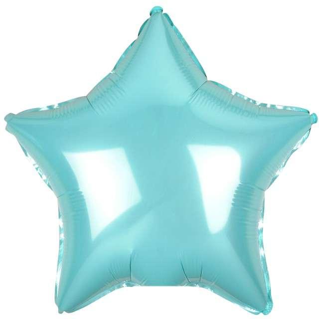 """Balon foliowy """"Gwiazda"""", niebieski jasny metalik, Godan, 19"""" STR"""